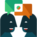 Multimedia, Chat, user, Communication, speech bubble, Conversation DarkSlateGray icon