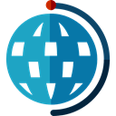 Planet Earth, Earth Globe, Earth Grid, Maps And Location, planet, Geography, Maps And Flags DarkCyan icon