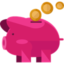 save, Money, coin, piggy bank, savings, funds, Business And Finance MediumVioletRed icon