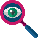 ui, Loupe, Tools And Utensils, magnifying glass, zoom, miscellaneous, detective, search Black icon