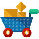 commerce, shopping cart, Supermarket, online store, Shopping Store, Business And Finance Black icon