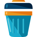 Can, Tools And Utensils, miscellaneous, Trash, Basket, Bin, Garbage DarkCyan icon
