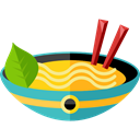 Food And Restaurant, food, Bowl, chopsticks, noodles, Chinese Food Black icon