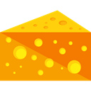 food, Cheese, Milky, Healthy Food, Fattening, Food And Restaurant Orange icon