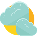 Cloud, weather, Clouds, Cloudy, sky, Cloud computing, Atmospheric LightSteelBlue icon