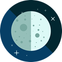 Moon Phase, First Quarter, weather, sky, Astronomy MidnightBlue icon
