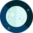 Moon, weather, nature, meteorology, Astronomy, full moon, Moon Phase MidnightBlue icon