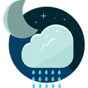 night, weather, Rain, Storm, sky, rainy, meteorology PowderBlue icon