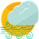 windy, Tornado, hurricane, nature, Cold, twister, wind, weather PowderBlue icon