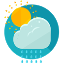 weather, Rain, Storm, sky, rainy, meteorology, Morning Rain LightSeaGreen icon