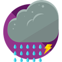 weather, Rain, Storm, sky, rainy, meteorology, raining LightSlateGray icon