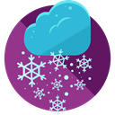 winter, Cold, snowflake, weather, Snow, nature DarkMagenta icon