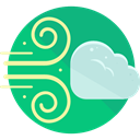 weather, wind, windy, meteorology, Bad Weather LightSeaGreen icon