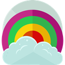 sun, weather, Rainbow, nature, spectrum, Atmospheric PowderBlue icon