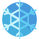 weather, Snow, nature, winter, Cold, snowflake CornflowerBlue icon