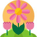 nature, Bloom, spring, floral, plant SandyBrown icon