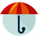 Umbrella, weather, Protection, Rain, rainy, Tools And Utensils, Umbrellas LightGray icon