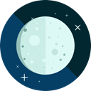 night, weather, nature, Half Moon, Crescent Moon, Moon Phase MidnightBlue icon