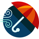 windy, meteorology, Bad Weather, Umbrella, weather, wind MidnightBlue icon