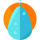 weather, Rain, drop, water, Teardrop, raindrop DarkOrange icon