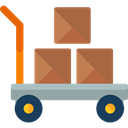 Cart, trolley, Delivery, deliver, items, Delivery Cart, Shipping And Delivery Black icon