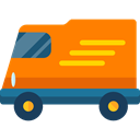 Delivery, transportation, truck, transport, vehicle, Automobile, Delivery Truck, Cargo Truck, Shipping And Delivery DarkOrange icon