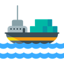 Cargo Ship, Shipping And Delivery, Shipping, navigation, transportation, Boat, transport Black icon