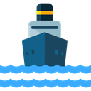 navigation, transportation, Boat, transport, ship, Cargo Ship, Shipping And Delivery, Shipping Black icon