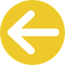 Arrows, Back, previous, Direction, directional, Multimedia Option Goldenrod icon