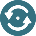 Multimedia, Arrows, Reload, refresh, Orientation, Direction, Multimedia Option SeaGreen icon