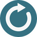 Arrows, Reload, refresh, Orientation, interface, Direction, Multimedia Option, Circular Arrow SeaGreen icon