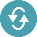 Direction, Multimedia Option, Multimedia, Arrows, Reload, refresh, Orientation CadetBlue icon