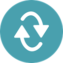 Multimedia, Arrows, Reload, refresh, Orientation, Direction, Multimedia Option CadetBlue icon