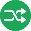 Arrows, Change, interface, exchange, shuffle, symbols, random, changing, Multimedia Option SeaGreen icon