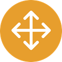 Arrows, Move, Orientation, interface, Direction, Multimedia Option Goldenrod icon