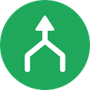 Arrows, Orientation, Direction, up arrow, Multimedia Option SeaGreen icon