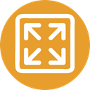 Arrows, Fullscreen, Orientation, interface, expand, Direction, ui, Multimedia Option Goldenrod icon