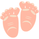 Healthcare And Medical, Feet, baby, childhood, babies, barefoot, Motherhood LightPink icon