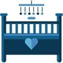 furniture, Antique, bedroom, crib, Elegant, Kid And Baby DarkSlateGray icon