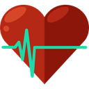 Cardiogram, Healthcare And Medical, Heart, medical, pulse, heart rate, Electrocardiogram DarkRed icon