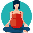 woman, Yoga, exercise, relaxation, pregnancy, Sports And Competition, Healthcare And Medical LightSeaGreen icon