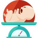 hospital, scale, newborn, Healthcare And Medical, Baby Weight Bisque icon