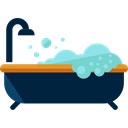 Clean, Bath, bathroom, washing, hygiene, Bathtub, Hygienic, Furniture And Household MidnightBlue icon