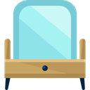 table, furniture, Mirror, Dresser, Dressing, Furniture And Household SkyBlue icon