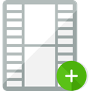 cinema, video player, filming, Film Strip, Files And Folders, Add Video WhiteSmoke icon