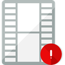 Formats, Files And Folders, document, Alert, Archive, warning, files, video file WhiteSmoke icon