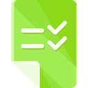 paper, list, check mark, interface, education, Checklist, Checked, checking, Files And Folders YellowGreen icon