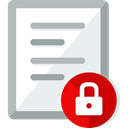 document, File, security, Archive, padlock, interface, Files And Folders Lavender icon