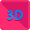 button, 3d, Effect, ui, Multimedia Option DeepPink icon