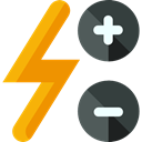 Flash, Decrease, increase, ui, Multimedia Option Black icon